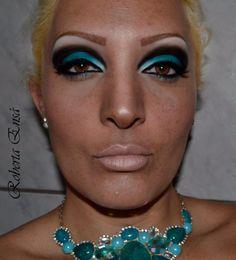 Maquiagem turquesa-makeup turquoise