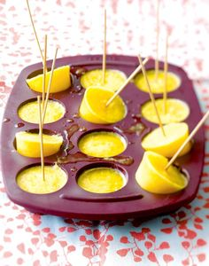 Find more delicious dessert and ice cream recipes at Tesco Real Food. Dinner Party Recipes, Easy Party Food, Party Food And Drinks, Lunch Ideas For Guests, Tesco Real Food, Party Finger Foods, Healthy Treats, Cookie Bars, Caramel Apples