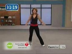 Exercise TV Start walking at home 2 mile with Leslie Sansone Abs And Cardio Workout, 30 Minute Workout, Belly Fat Workout, Easy Workouts, Workout Videos, Walking Exercise Video, Walking Videos, Walking Workouts, Leslie Sansone