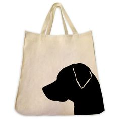 Labrador Retriever Tote Bag - Silhouette Design