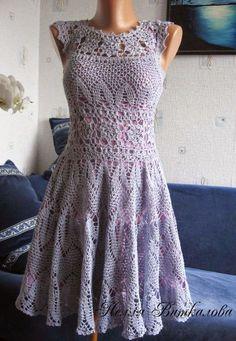 Irish crochet &: Ажурное платье от Нелли Виткаловой