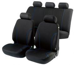 In elegantem Schwarz mit Ziernähten in Blau versehen präsentiert sich der Autositzbezug Allessandro. Er lässt sich mit Leichtigkeit anbringen und schützt Ihre Polster vor Verschmutzung und Abnutzung. Das von der Firma Walser patentierte Airbag-Reißnaht-System sorgt für ein Plus an Sicherheit.