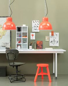 Love the coral lamps!!