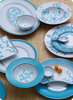 Sea Coral Decor   Nicole was inspired by the Cristobal Turquoise by Raynaud from ...