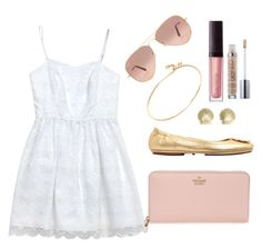 """""""Casual lunch double date today!"""" by nc-preppy ❤ liked on Polyvore featuring Lilly Pulitzer, Kate Spade, Tory Burch, Tiffany & Co., Ray-Ban and Laura Mercier"""