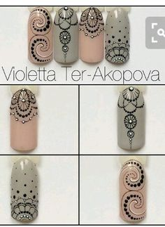 The problem is so many nail art and manicure designs that you'll find online Mandala Nails, Dot Nail Art, Lace Nails, Manicure E Pedicure, Elegant Nails, Creative Nails, Nail Tutorials, Diy Nails, Beauty Nails