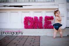 HOT PINK ONE Letter photo prop via Etsy
