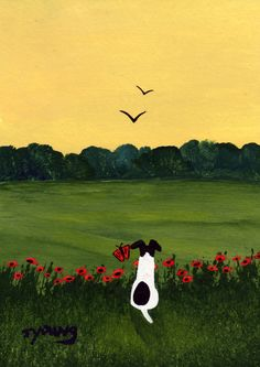 Smooth Fox Terrier dog art PRINT of Todd Young by ToddYoungArt, $12.50