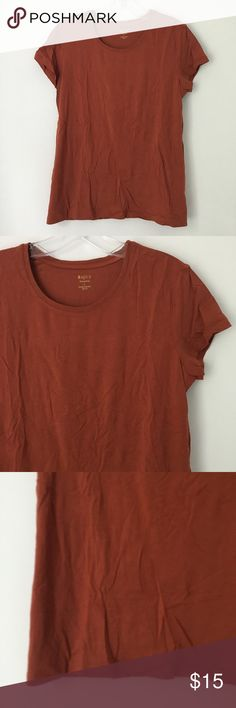"""BASIC RUST RUSTY COPPER BROWN SOFT TEE SHIRT TOP!! Brand new 