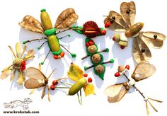 I don't think I could love these bugs made from natural materials and clay any more!