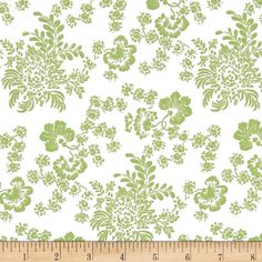 Urban Chic Montone Floral Olive Green from @fabricdotcom  Designed by Tina Higgins Designs and licensed to Quilting Treasures, this cotton print fabric is perfect for quilting, apparel and home decor accents. This is a licensed fabric and not for commercial use. Colors include avocado green and white.