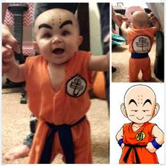 Totes Adorbs Baby Dressed Up as DBZ's Krillin