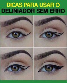 Makeup Tips Eyeshadow, Eyebrow Makeup Tips, Makeup Eye Looks, No Eyeliner Makeup, Contour Makeup, Makeup Brushes, Beauty Makeup, Eyeliner Shapes, Makeup Pictorial