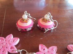 cute quilled jhumka