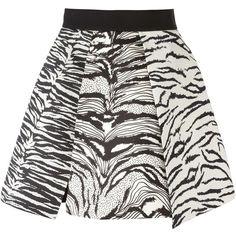 Fausto Puglisi Zebra Print Pleated Skirt ($534) ❤ liked on Polyvore featuring skirts, bottoms, gonne, black, silk skirt, knee length pleated skirt, silk pleated skirt, zebra print skirt and pleated skirt