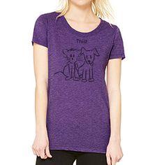 3b5e377765 Soft Women s Purple T-Shirt. What I receive by jdesignshop