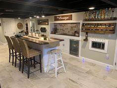 Man Cave Basement, Black Ceiling, Flat, Kitchen, Table, Furniture, Ideas, Home Decor, Bass