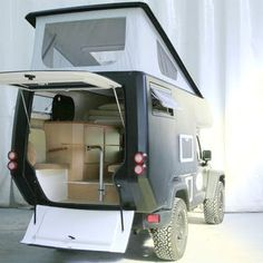 The pop-up roof gives you more than 6 feet of clearance inside