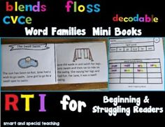 Dyslexia Activities, Teaching Reading, Learning, Cvce Words, Dysgraphia, Struggling Readers, Word Families, Mini Books, Studying