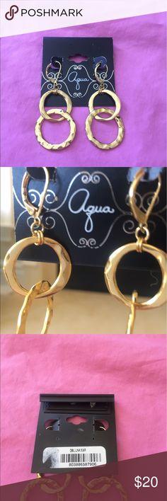 NWT aqua earrings Pretty hanging earrings to make that one special outfit. Aqua Jewelry Earrings