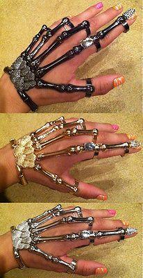 SKELETON HAND BONE TALON CLAW SKULL BRACELET CUFF FINGER NAIL KNUCKLE RING | Jewelry & Watches, Fashion Jewelry, Rings | eBay!
