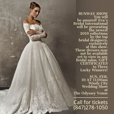 """82213a363c4a Evas Bridal International on Instagram: """"Call for tickets TODAY!!  (847)278-1050 🎈🎉🎈💕🎈🎈🎉"""""""