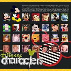 LOVE this idea! They look so cute all together on one page! #DisneyCharacters