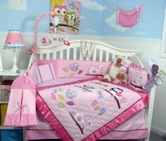 SoHo Owls Meadowland Baby Crib Nursery Bedding Set 13 pcs included Diaper Bag фото