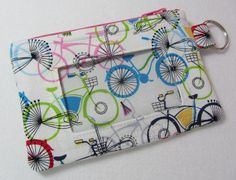 Keychain Wallet / ID Wallet / ID Holder / by EarlyBirdStitches
