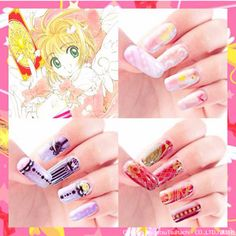 Card Captor Sakura Nail Decals! I love the Clow Card design most! Available at Super Groupies (Japan website) right now! http://www.super-groupies.com/products/detail.php?product_model_id=926ケロちゃんが! 封印&星の杖が! クロウカードが!! キュートなネイルフィルムになって登場!! カードキャプターさくらの世界を指先で楽しもう♪