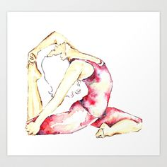 Bending+over+backwards+Art+Print+by+Jessica+Chin+fong+-+$17.00