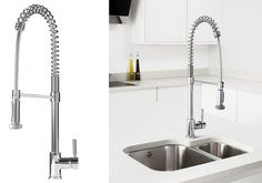 Choosing kitchen taps is challenging and requires time and attention. At present, there are various kinds of taps that you can choose. Sink Taps, Faucet, Sinks, Kitchen Taps, New Kitchen, Kitchen Ideas, Large Water Containers, How To Wash Vegetables, Simple House Plans
