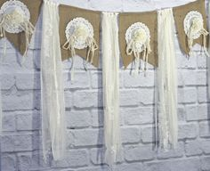 Handmade Burlap Wedding Garland Tattered by CottonRidgeEmporium