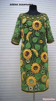 Добрый день! Хочу показать Вам свое платье, может оно вдохновит кого то взяться за крючок, как и меня когда то вдохновили работы других мастеров! Платье 60 размера, манекен 48).