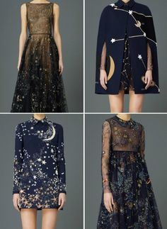 dress stars starry night navy black elegant grunge vintage glitter