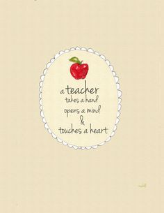 Teacher Quote  Inspirational Art Print for by RoseHillDesignStudio, $18.00