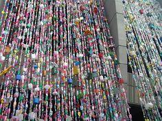 plastic bottle curtains