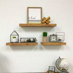 Polaris Large Framed Wall Mirror & Reviews | Joss & Main Floating Shelves Bedroom, Floating Shelf Decor, Wooden Wall Shelves, Wall Shelf Decor, Solid Wood Shelves, Wall Decor Set, Wood Floating Shelves, Metal Wall Decor, Decorative Wall Shelves
