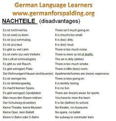 Nachteile (desvantagens) Source by German Grammar, German Words, German Language Learning, Learn A New Language, German English, Learn English, German Resources, Deutsch Language, Germany Language