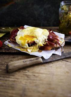 Käse-Ei auf Schinkenbrot Rezept