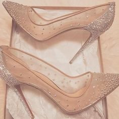 19 Trendy Ideas Wedding Shoes Sandals Heels Cinderella Source by shoes Prom Heels, Wedding Heels, Wedding Shoes Louboutin, Louboutin High Heels, Wedding Boots, Sparkly Heels, Lace Heels, Glitter Shoes, Cute Shoes