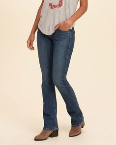 fcb2fab8897 Hollister Stretch Low-Rise Boot Jeans. (affiliate) Hollister Boots