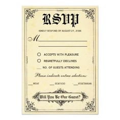 Fairy Tale Storybook Wedding RSVP Cards