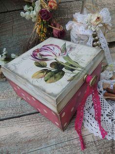 Чайная шкатулка Тюльпан - фуксия,чайная шкатулка,чайный короб,короб для чая