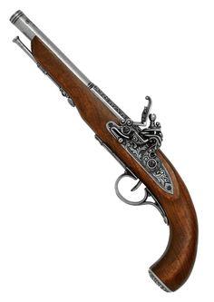 Left Handed Pirate Flintlock Pistol - 18th Century