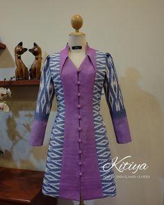 Model Dress Batik, Batik Dress, Mode Batik, I Dress, Wrap Dress, Kebaya Brokat, Ethnic Dress, Mom Style, Daily Wear