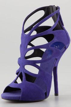 ╰☆Stilettos~Pumps~Heels☆╮ *Giuseppe Zanotti Butterfly Cutout Suede Shoeties
