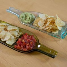 Chip and Dip Split Serving Dish - Clear Dinner Parties, Serving Dishes, Devon, Crisp, Sweets, Dining, Tableware, Ethnic Recipes, Gifts