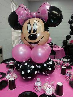 Minnie mouse baby shower centerpiece