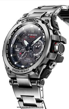Casio G-Shock Metal-Twisted Tough Solar quartz watch Timex Watches, Fossil Watches, Men's Watches, Sport Watches, Cool Watches, Fashion Watches, G Shock Watches Mens, Best Watches For Men, Luxury Watches For Men